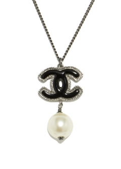 CHANEL COCO JEWELRY - CHANEL ラメココスウィングパールネックレス 13S