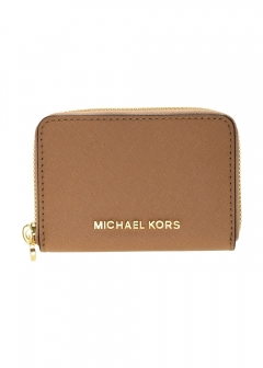 MICHAEL KORS - 【3/3入荷】JET SET TRAVEL ZA BK PKT CARDCASE ラウンドファスナー小銭入れ