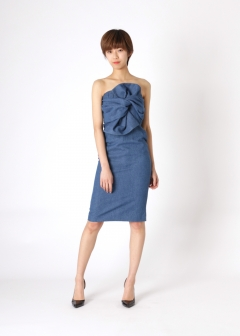 【Price Down】eimy istoire - bust big ribbon dress