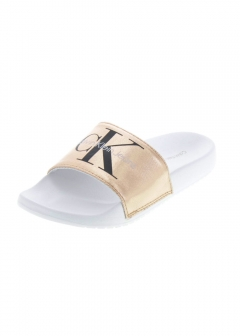 Calvin Klein Sandals - CHANTAL METAL CANVAS