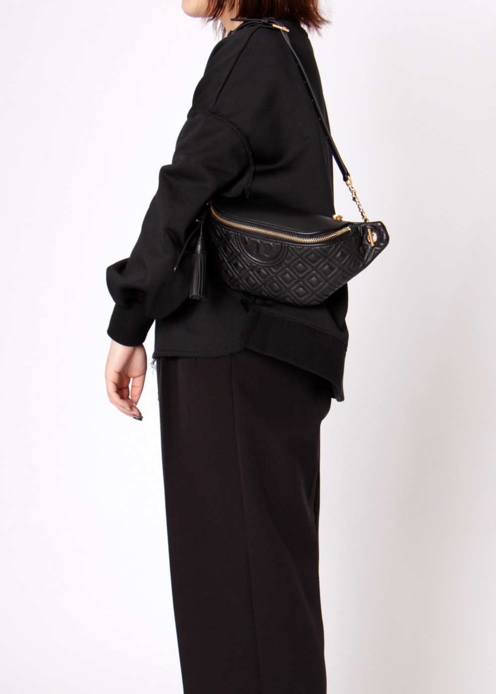【最大40%OFF】【3/20入荷】FLEMING BELT BAG|BLACK|ウエストポーチ|Tory Burch(TM)