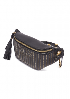 【最大48%OFF】FLEMING MINI STUD BELT BAG|BLACK|ボディバッグ|Tory Burch