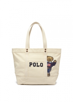 RALPH LAUREN - 【3/18入荷】CANVAS BEAR PP TOTE