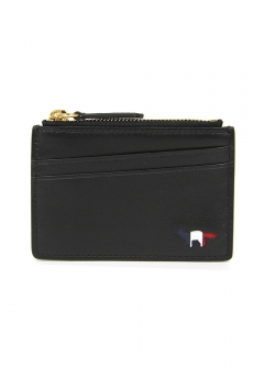 財布 コインケース カードケース TRICOLOR ZIPPED LEATHER CARD HOLDER WALLET