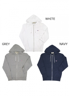 メンズ パーカー ZIP HOODIE TRICOLOR FOX PATCH(全3色)【FW17M711】
