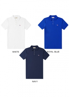 MAISON KITSUNE - ポロシャツ メンズ 半袖 POLO TRICOLOR FOX PATCH(全3色)【AM00200AT1506】