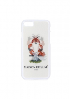 iphone 7 / 8 ケース カバー HOLOGRAM FOX PIXEL IPHONE CASE