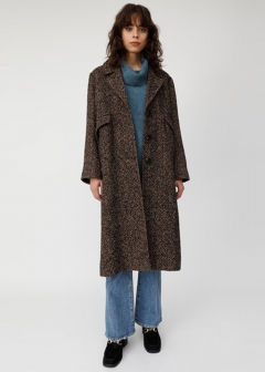 HERRINGBONE OVERSIZED COAT