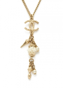 CHANEL COCO JEWELRY - 【4/17入荷】CHANEL ココスウィングボリュームパールネックレス A12A