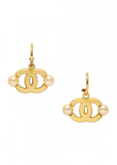 CHANEL COCO JEWELRY - 【4/17入荷】CHANEL ココサイドパールピアスGD 02A