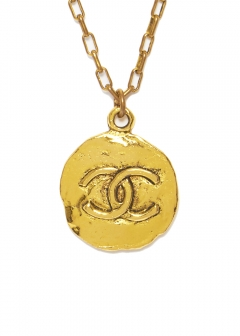 CHANEL COCO JEWELRY - 【4/17入荷】CHANEL ヴィンテージネックレスGD