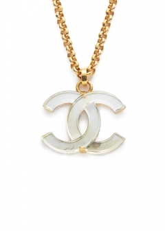 CHANEL COCO JEWELRY - 【4/17入荷】CHANEL デカココクリアネックレス4.5 02A