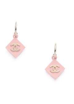 CHANEL COCO JEWELRY - 【4/17入荷】CHANEL ココスクエアピアス ピンク 04P