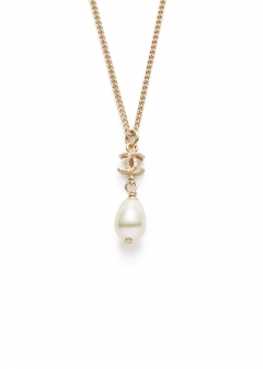CHANEL COCO JEWELRY - 【4/17入荷】CHANEL ミニココスウィングパールネックレス B12C