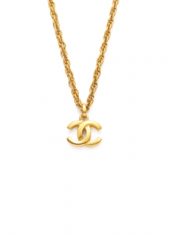 VINTAGE BRAND COLLECTION - 【4/17入荷】CHANEL ココネックレスGD