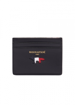 MAISON KITSUNE  - TRICOLOR CARD HOLDER LEATHER