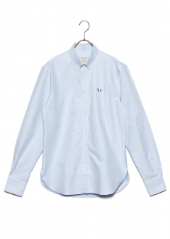 MAISON KITSUNE  - OXFORD TRICOLOR FOX PATCH CLASSIC SHIRT BD
