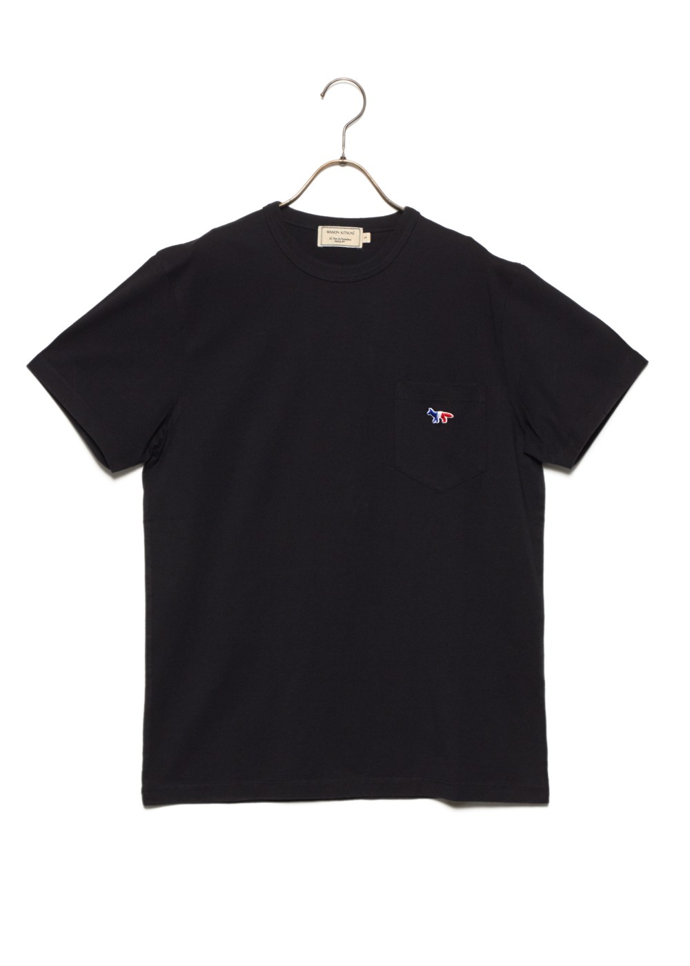 【最大51%OFF】TEE-SHIRT TRICOLOR FOX PATCH|BLACK|メンズトップス|MAISON KITSUNE