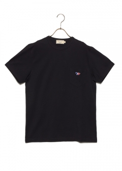 MAISON KITSUNE  - TEE-SHIRT TRICOLOR FOX PATCH
