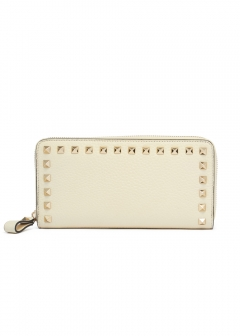 VALENTINO - 【'19春夏新作】ROCKSTUD ZIP AROUND WALLET