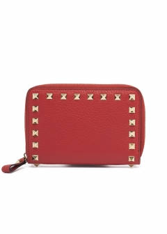 VALENTINO - 【'19春夏新作】ROCKSTUDS MEDIUM ZIP AROUND WALLET