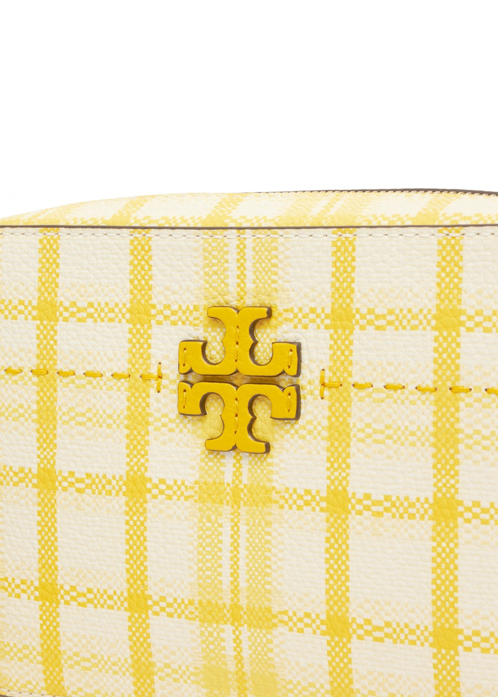 【最大47%OFF】MC GRAW PLAID CAMERA BAG|YELLOW CHECK IN PLAID|ショルダーバッグ|Tory Burch