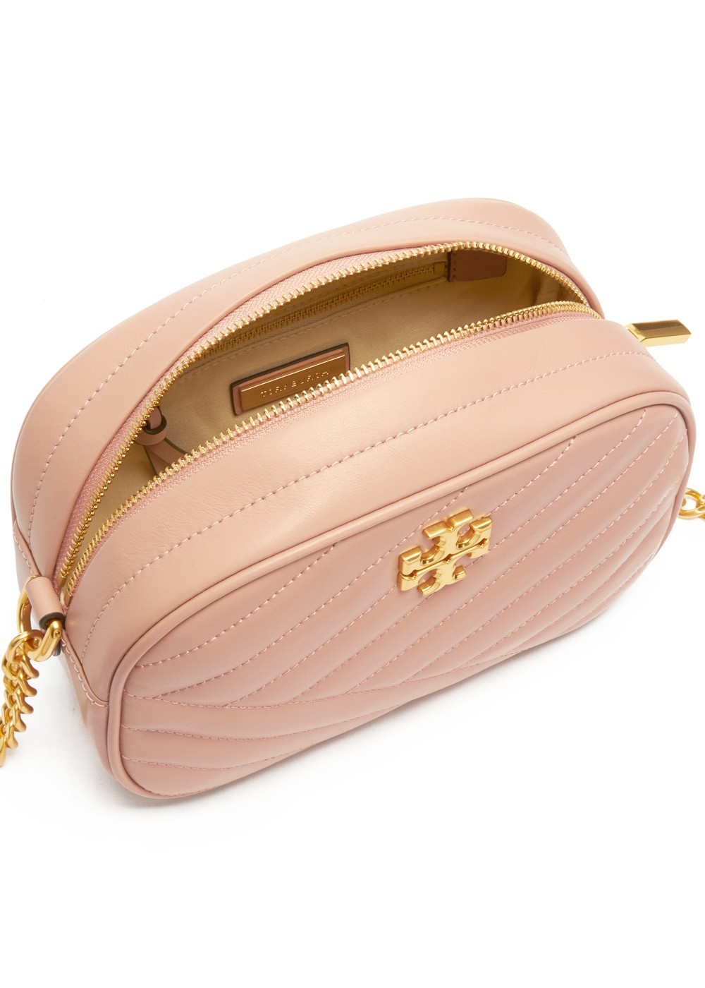 【最大48%OFF】【5/7入荷】KIRA CHEVRON CAMERA BAG|PINK MOON|ショルダーバッグ|Tory Burch