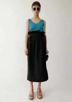 【最大70%OFF】WAIST SHIRRING SKIRT|GRN|膝丈スカート|MOUSSY