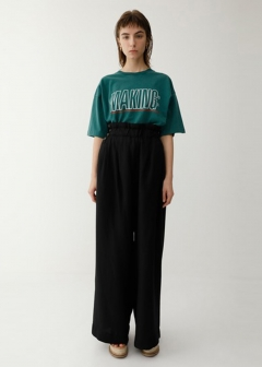 WAIST TUCK WIDE PANTS