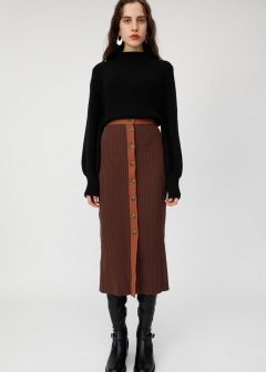 RIB KNIT TIGHT SKIRT