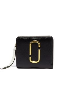 MARC JACOBS - 【MARC JACOBS】MINI COMPACT WALLET / SNAPSHOT 【BLACK MULTI】