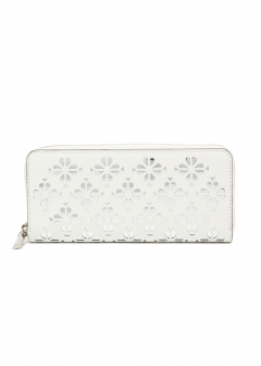 【5/20入荷】【'19春夏新作】SYLVIA PERFORATED SLIM CONTINENTAL WALLET