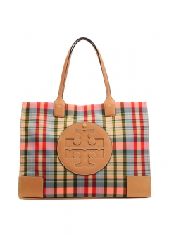 Tory Burch - ELLA PLAID TOTE