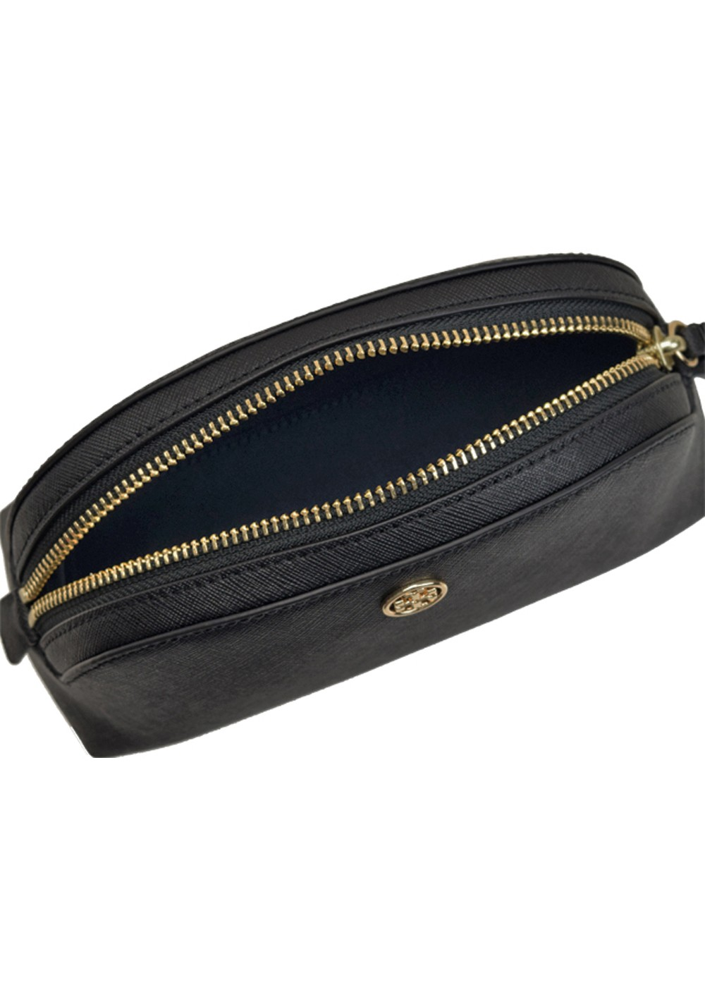 【5/23入荷】ROBINSON SMALL MAKEUP BAG|BLACK/ROYAL 金具ゴールド|ポーチ|Tory Burch