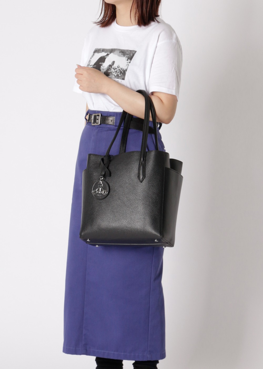 【最大61%OFF】【Price Down】RACHEL SMALL SHOPPER BAG|BLACK|トートバッグ|Vivienne Westwood