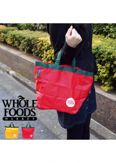DEAN & DELUCA / Whole Foods Market and more... - 【price down】【イエロー】Whole Foods Market 折りたたみエコバッグ ポケッタブル仕様