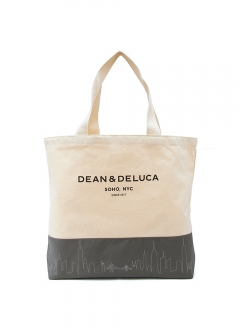 DEAN & DELUCA / Whole Foods Market and more... - 【ナチュラル×グレー】DEAN&DELUCA ディーン&デルーカ Sky Line トートバッグ