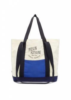 MAISON KITSUNE  - 【6/10入荷】COLOR-BLOCK SMALL SHOPPING BAG