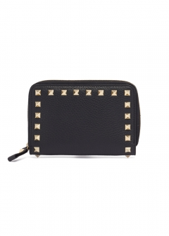 VALENTINO - 【'19春夏新作】MEDIUM ZIP AROUND WALLET ROCKSTUDS