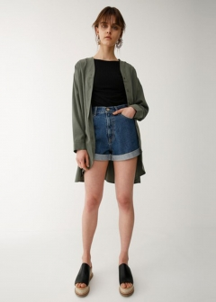 HIGH WAIST SHORT DENIM