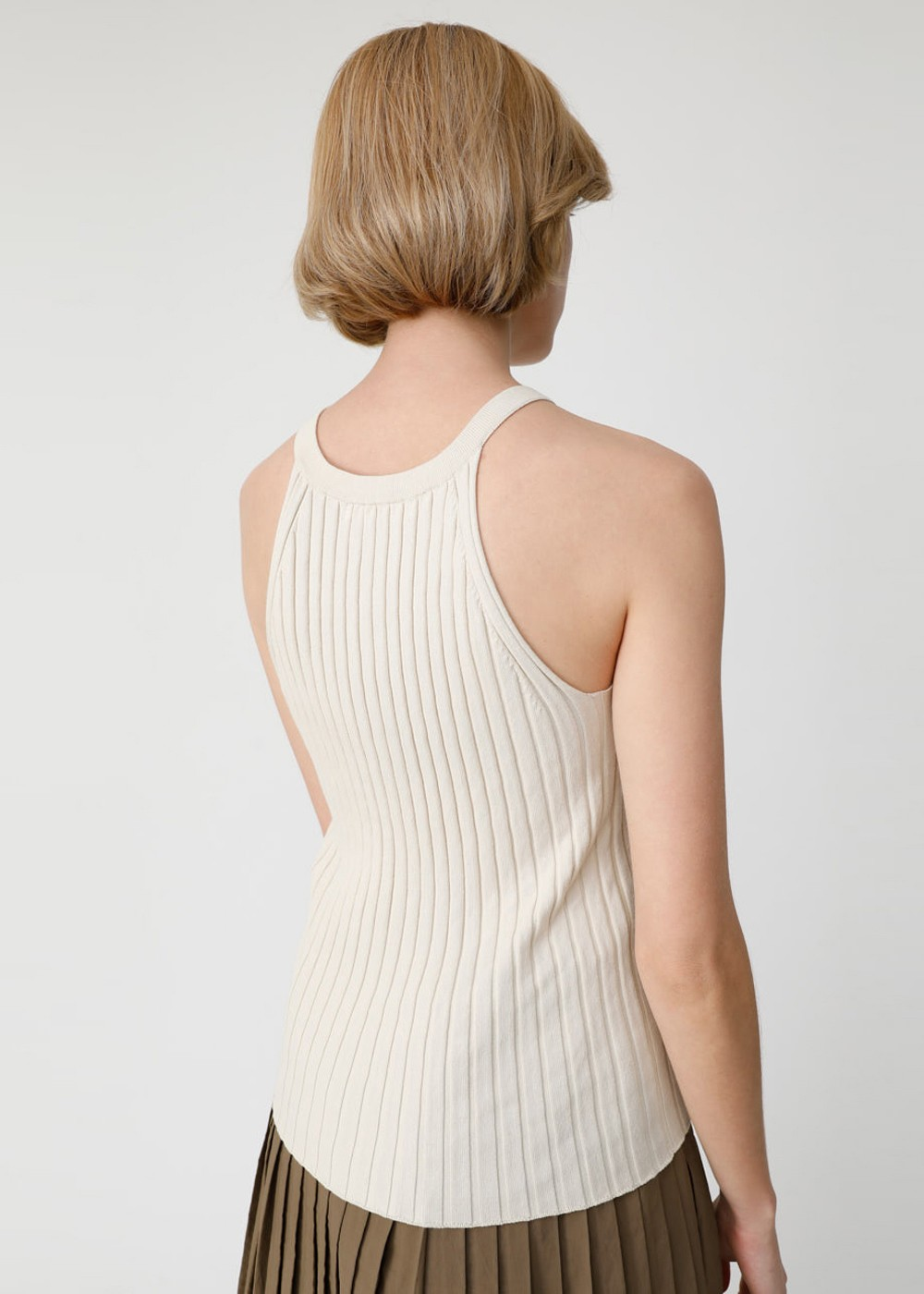 【最大70%OFF】RIB KNIT HALTER NECK TOP|IVOY|その他トップス|MOUSSY