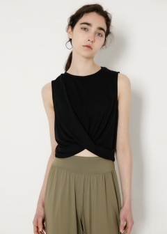 【最大70%OFF】SW FRONT TWIST N/S TOP|GRN|カットソー|MOUSSY