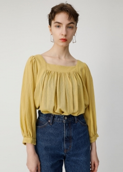 SQUARE NECK BLOUSE
