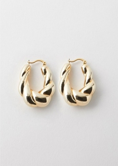 TWIST HOOP EARRINGS