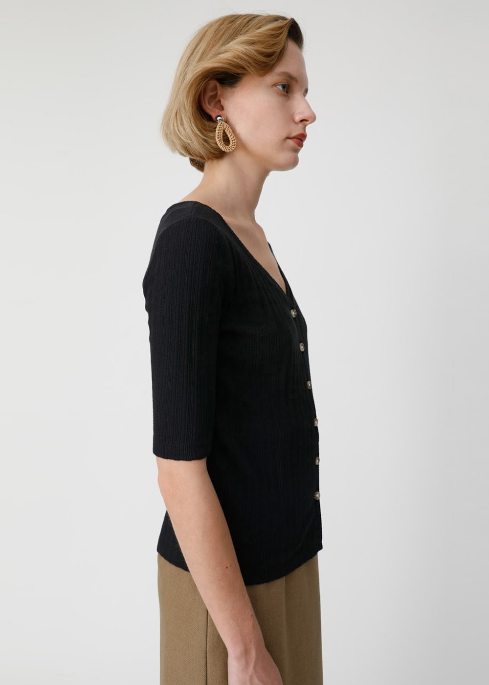 【最大70%OFF】WIDE NECK 2WAY TOP|BLK|カットソー|MOUSSY
