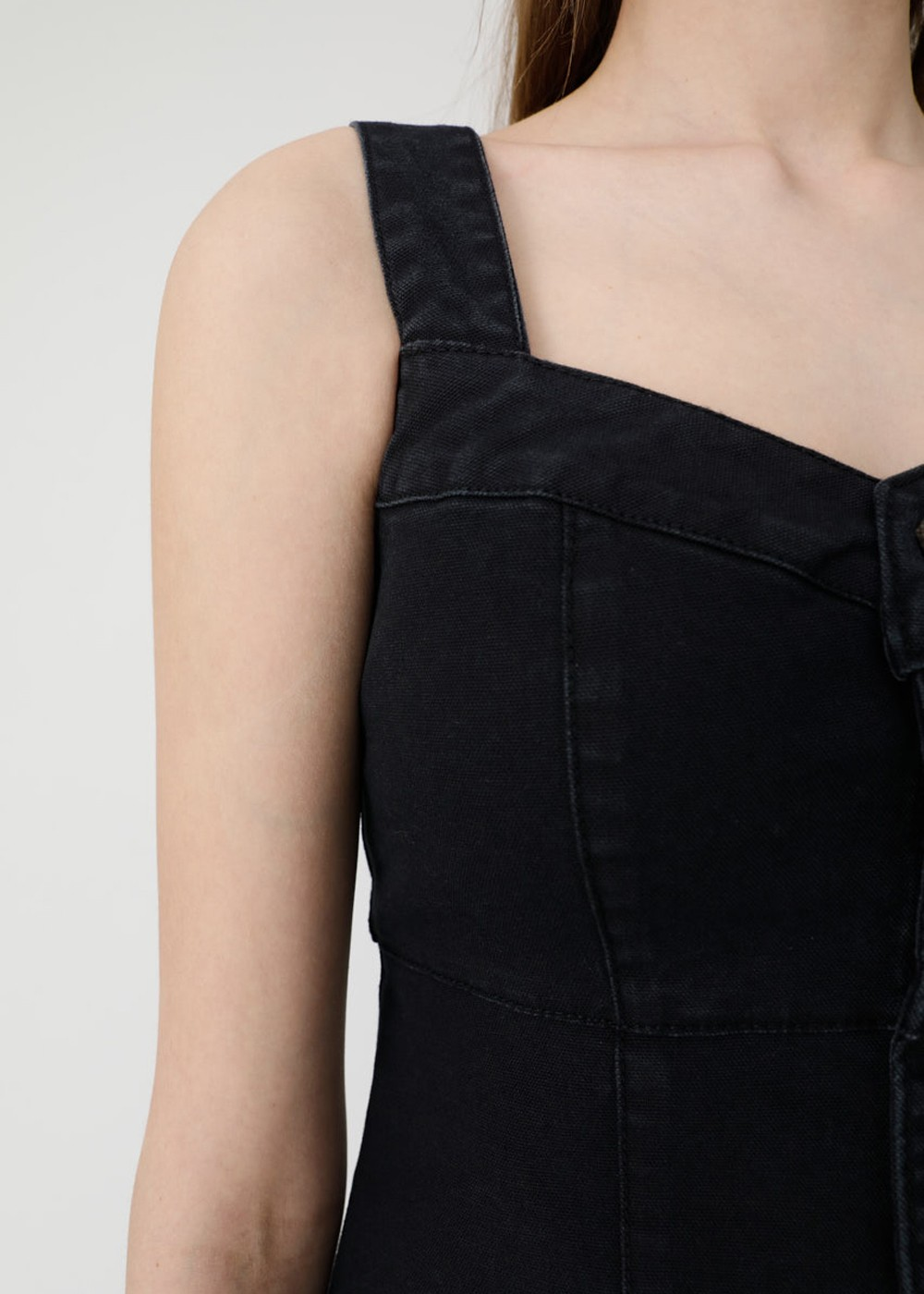 【最大70%OFF】HI STRETCH F/BUTTON BUSTIER|BLK|その他トップス|MOUSSY