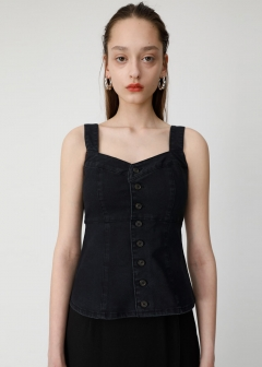 HI STRETCH F/BUTTON BUSTIER