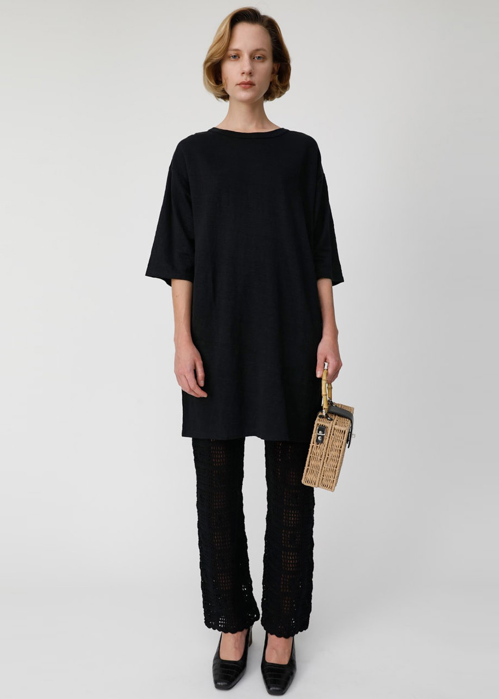 【最大70%OFF】HEMP C/N LOOSE TEE|BLK|Tシャツ|MOUSSY