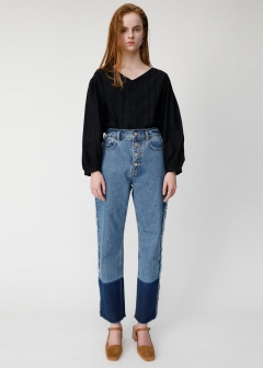 TWO TONE FRINGE DENIM