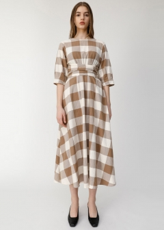 BLOCK CHECK DRESS